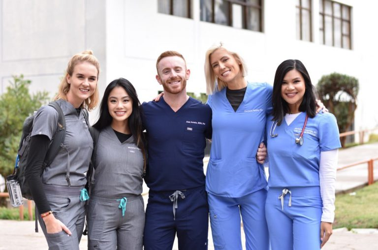 Hospital staff wear Figs in different style