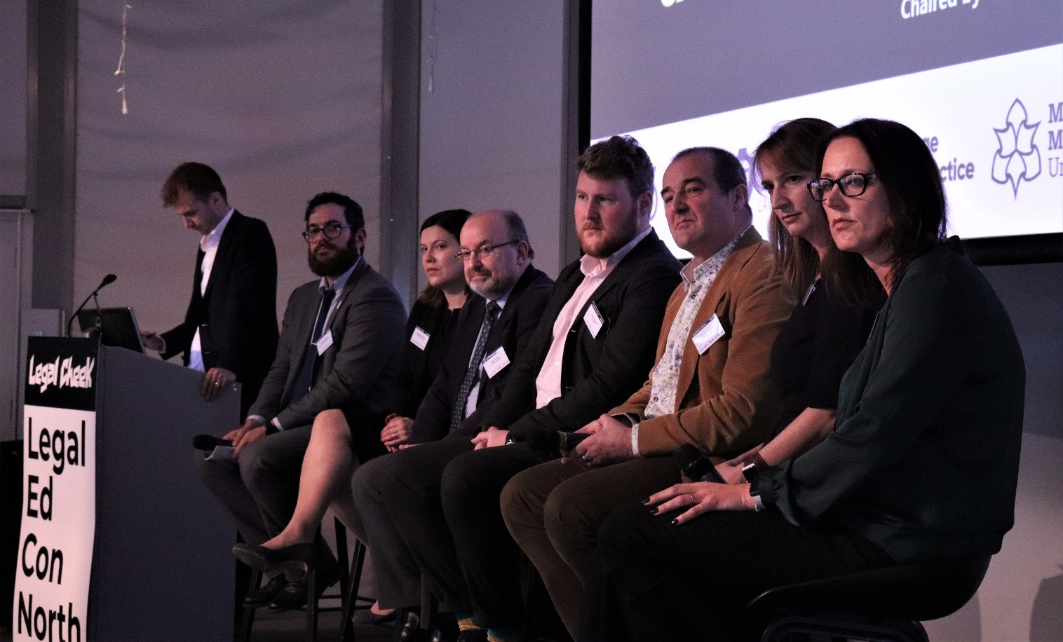 IncloudCounsel leadership team speak at a legal ed conference