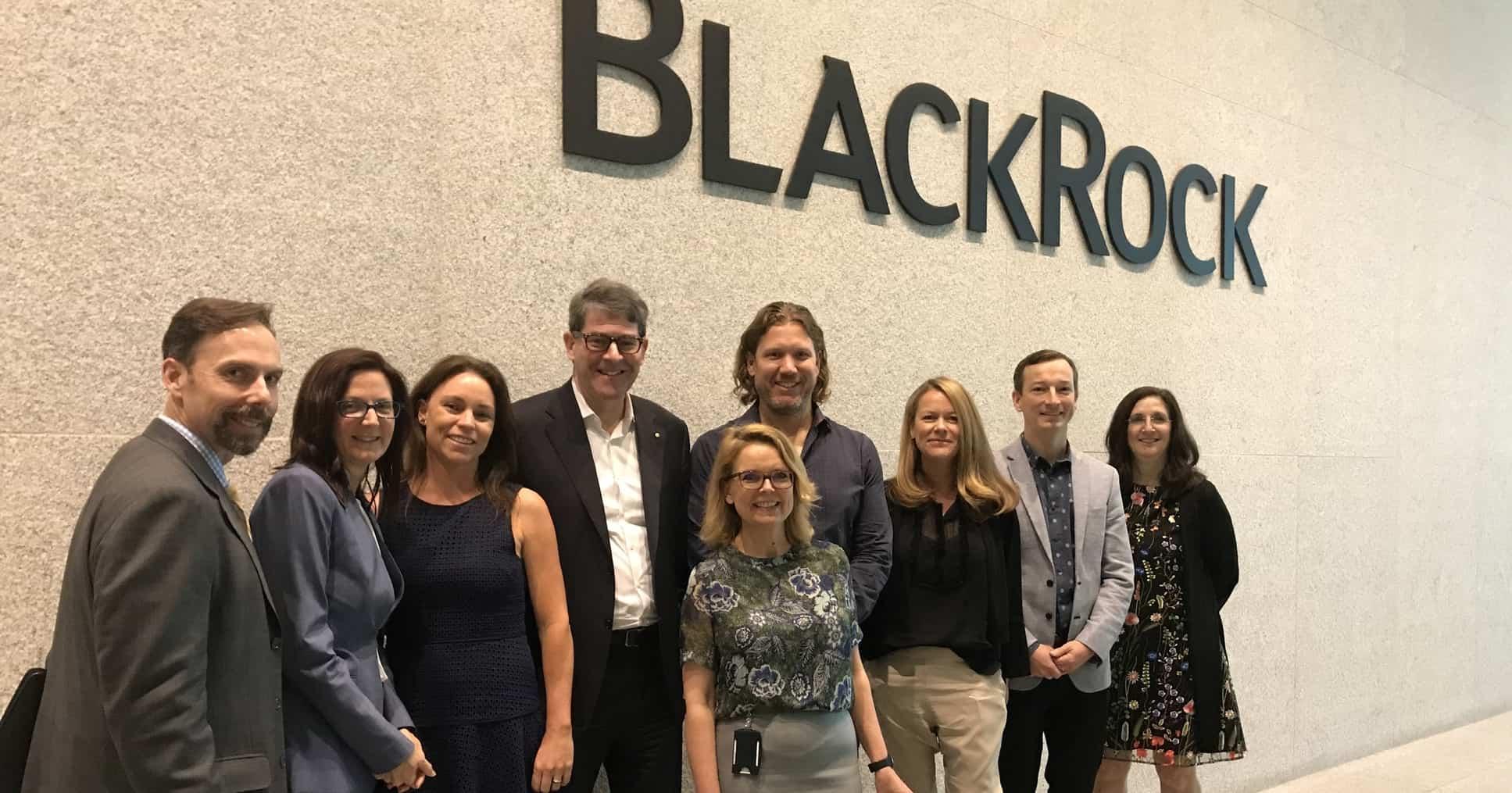 Blackrock staff at the headquarter office