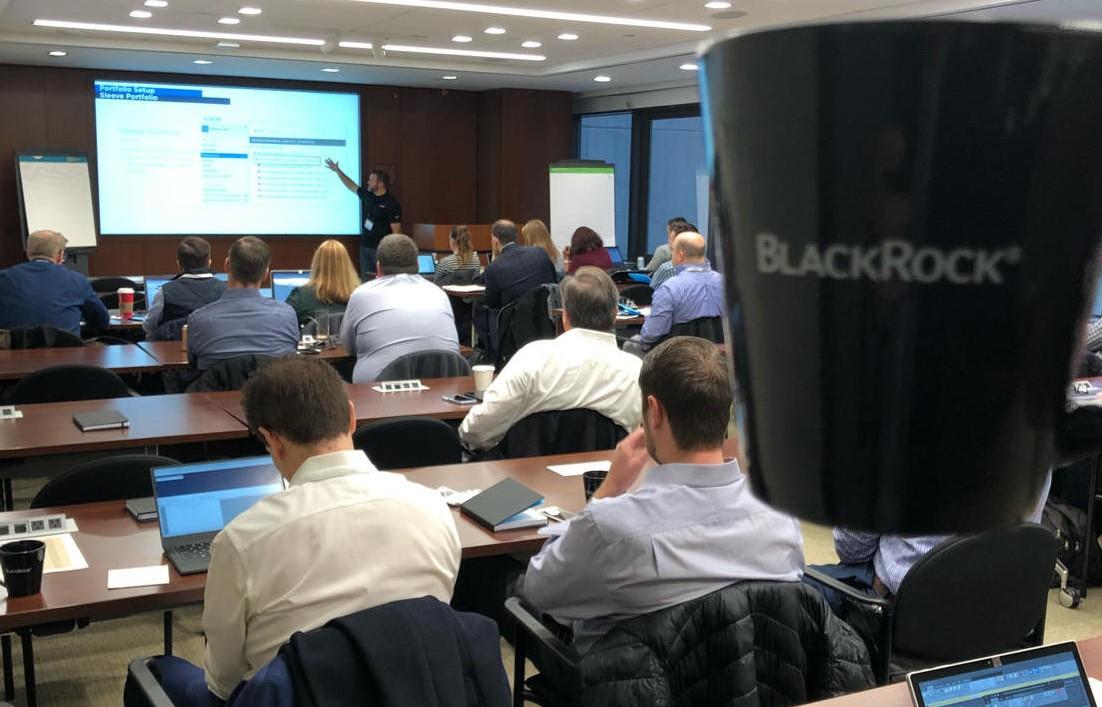 Blackrock staff in a technical workshop