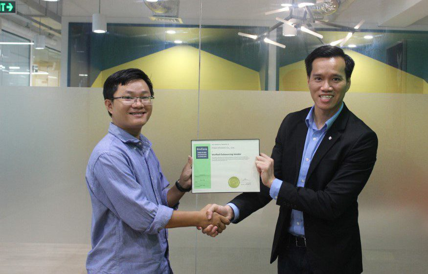 EnvZone engineers collaborate on project certificate