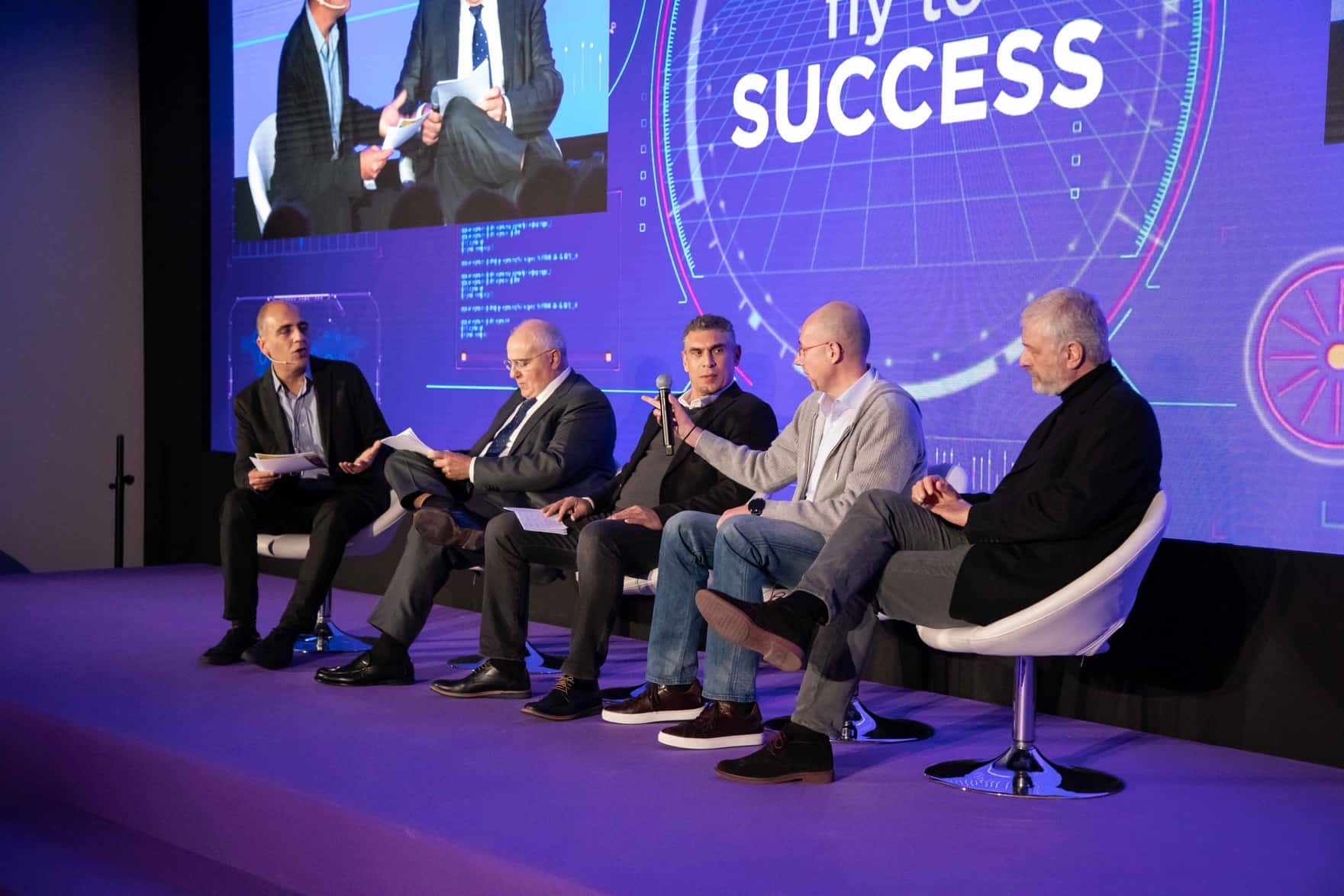 Grant Thornton leader share story at a trade show