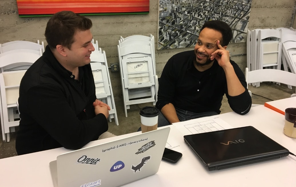 MaintainX staff collaborate on the design