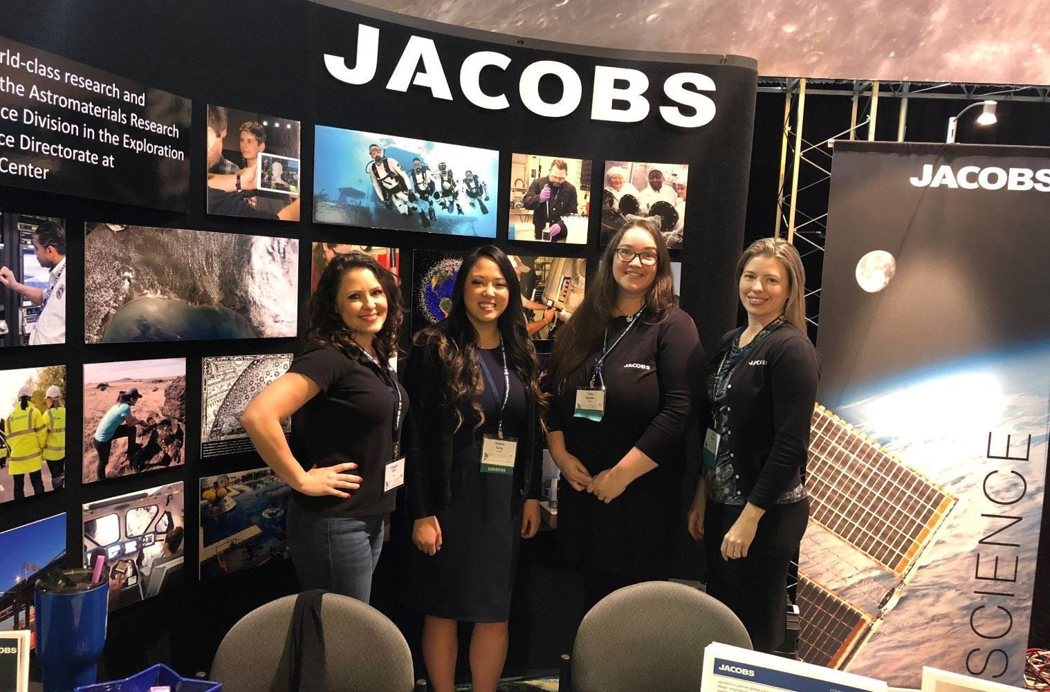 Young professionals at a Nasa conference event