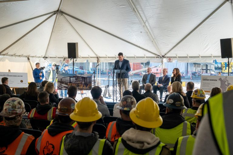 Kiewit management in an ground breaking event