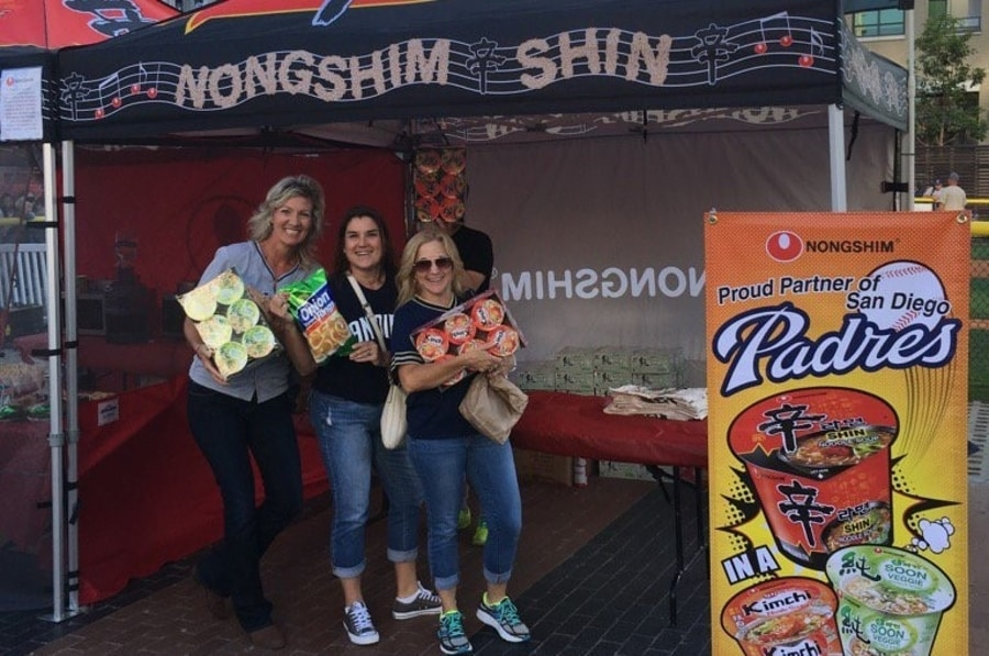 Consumers buy Nongshim products in San Diego