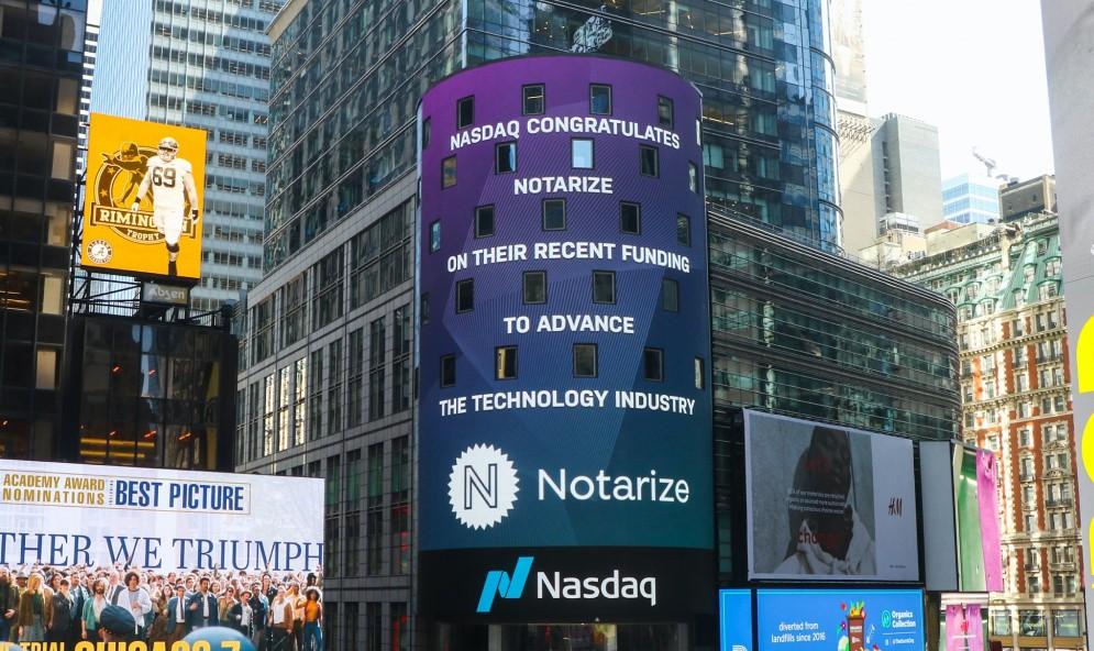 Notarize on the NASDAQ board
