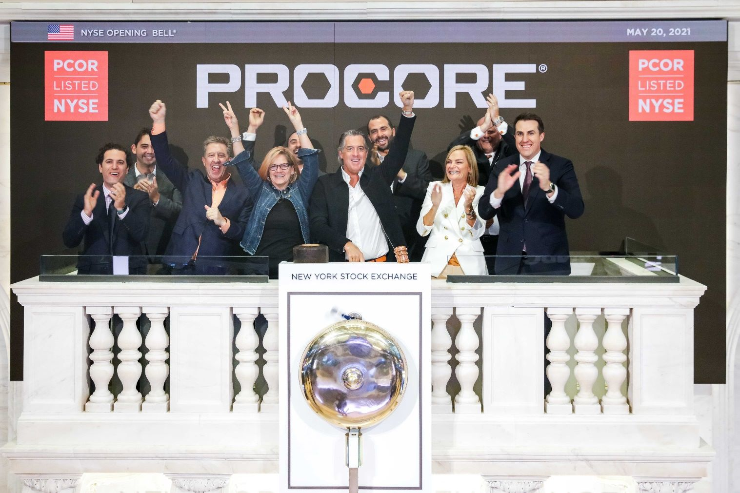 Procore on IPO event at NYSE