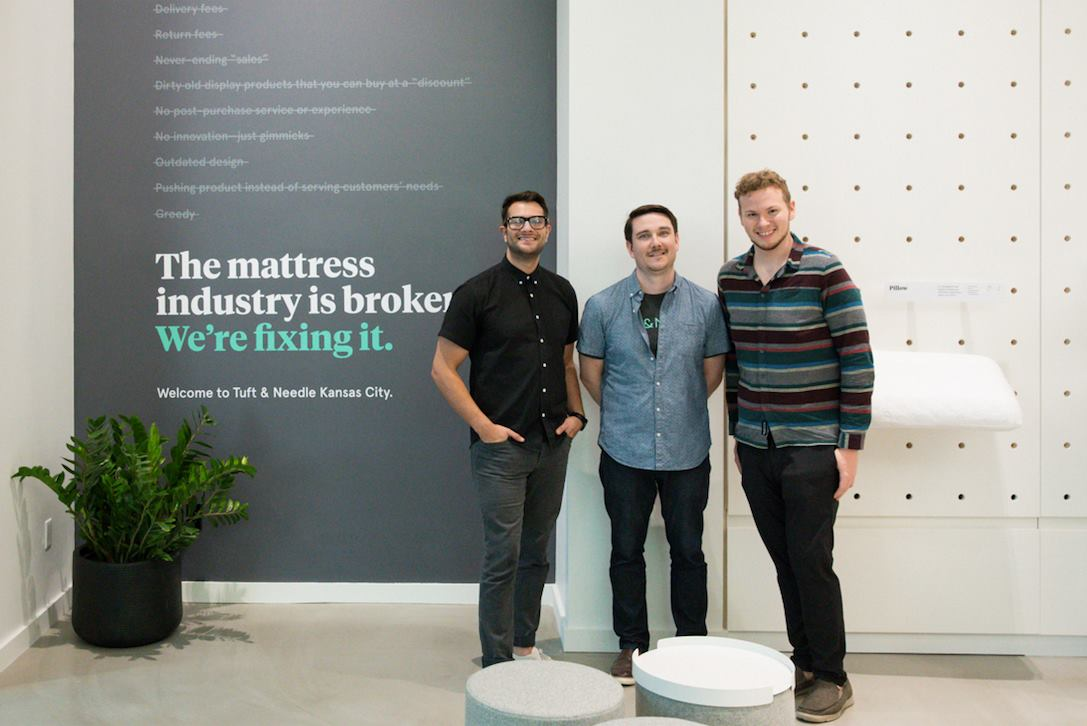 Turf and Needle founders in their head office