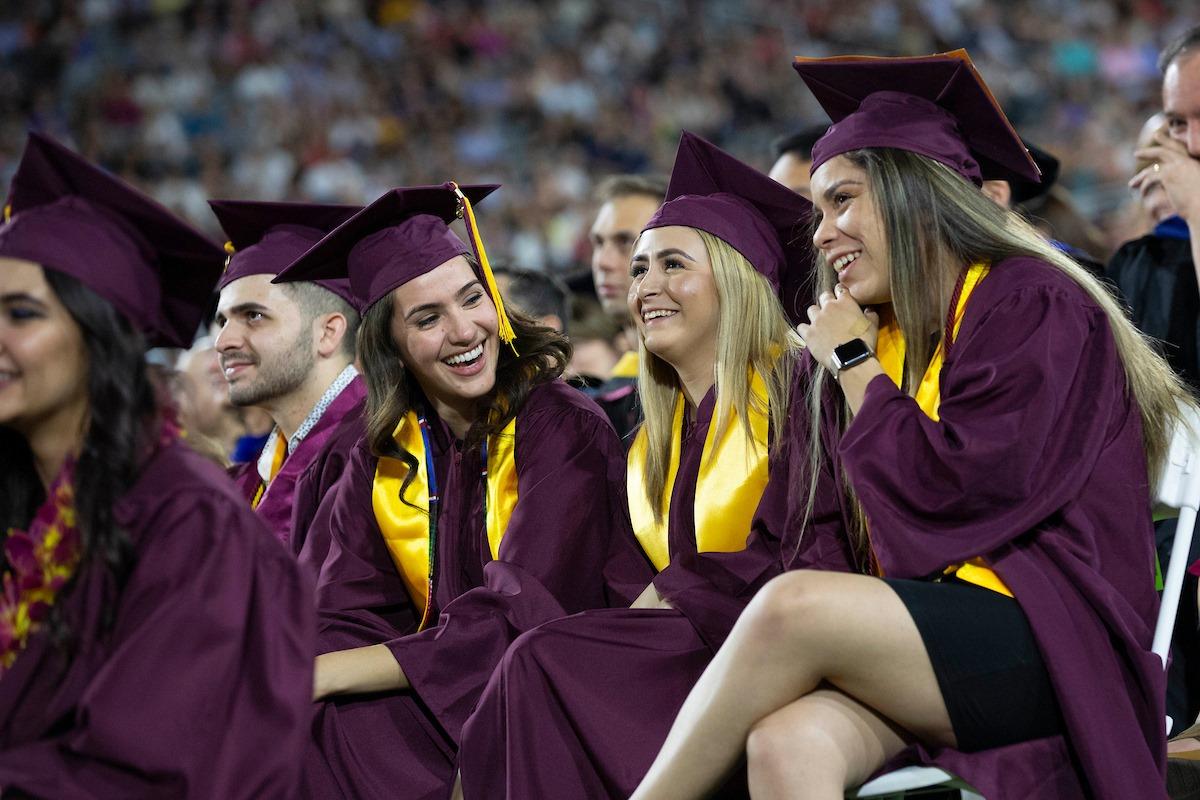 ASU celebrate in their graduation ceremony