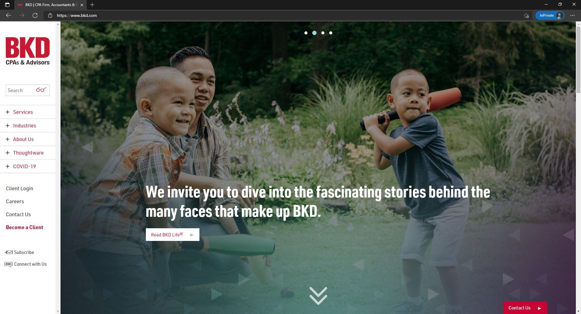 BKD website homepage