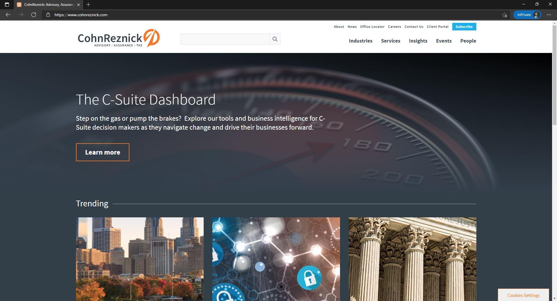 CohnReznick website homepage