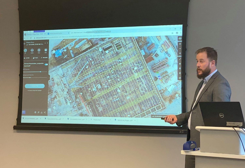 Beck engineer present a site plan in development process