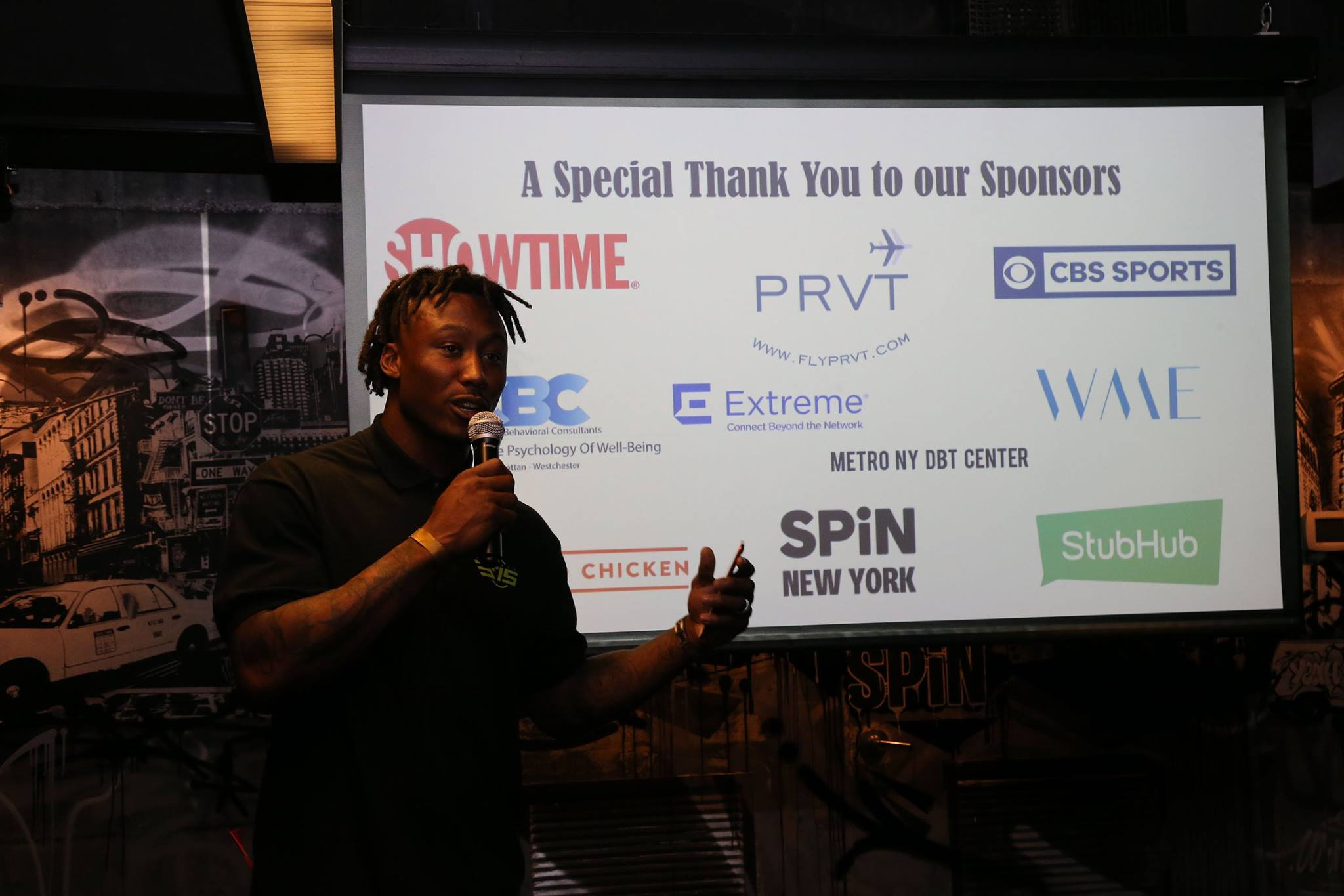 Brandon Marshall pitch to investors about his company