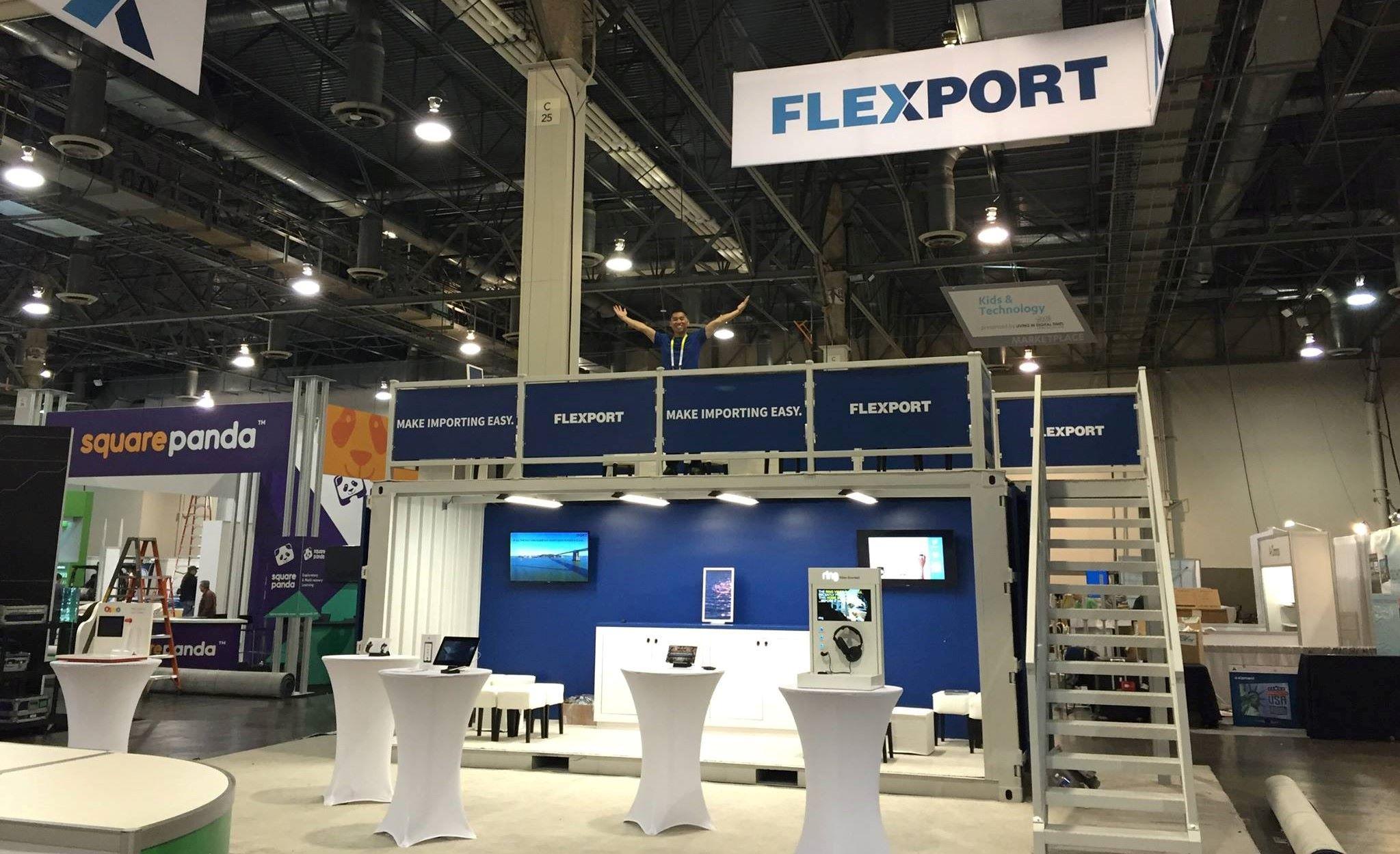 Flexport staff at the tradeshow