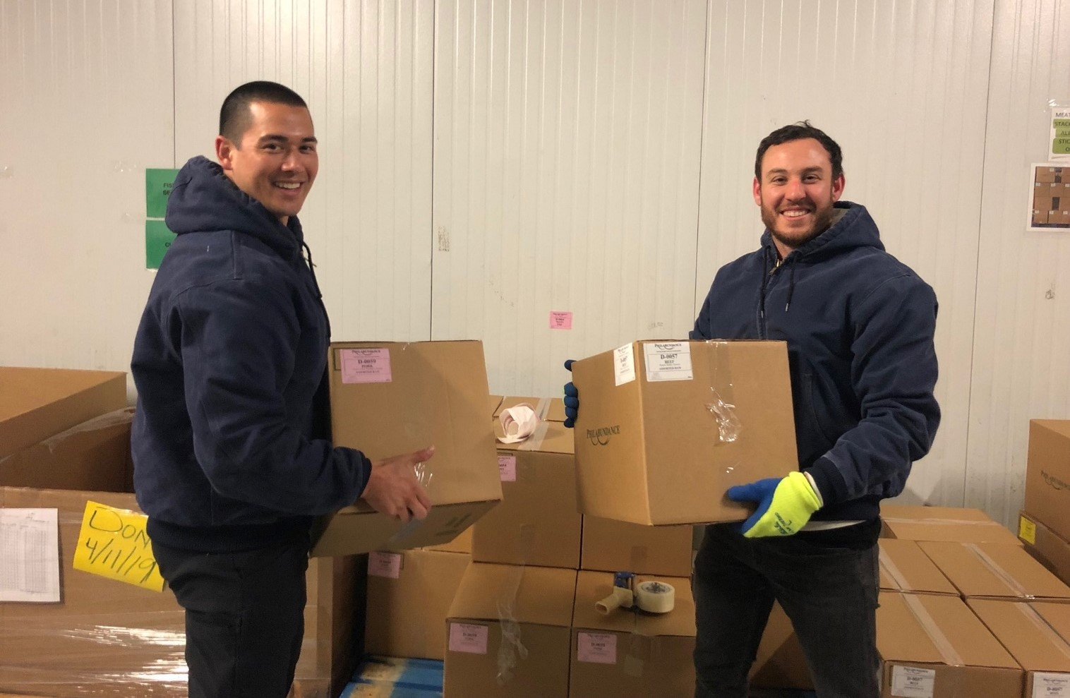 Flexport team carry freight the warehouse