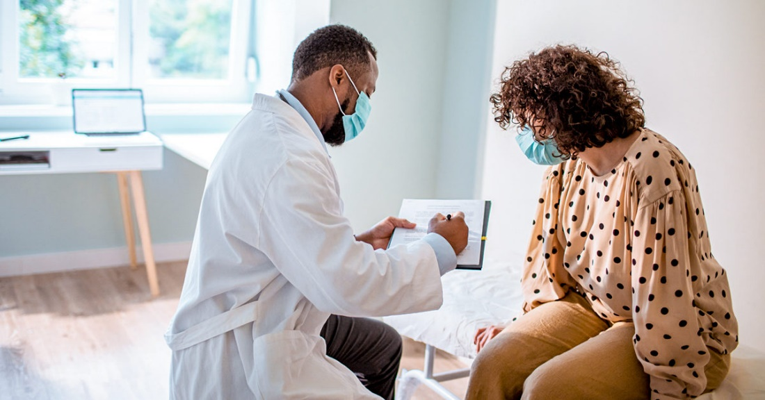 Physician check up with patients