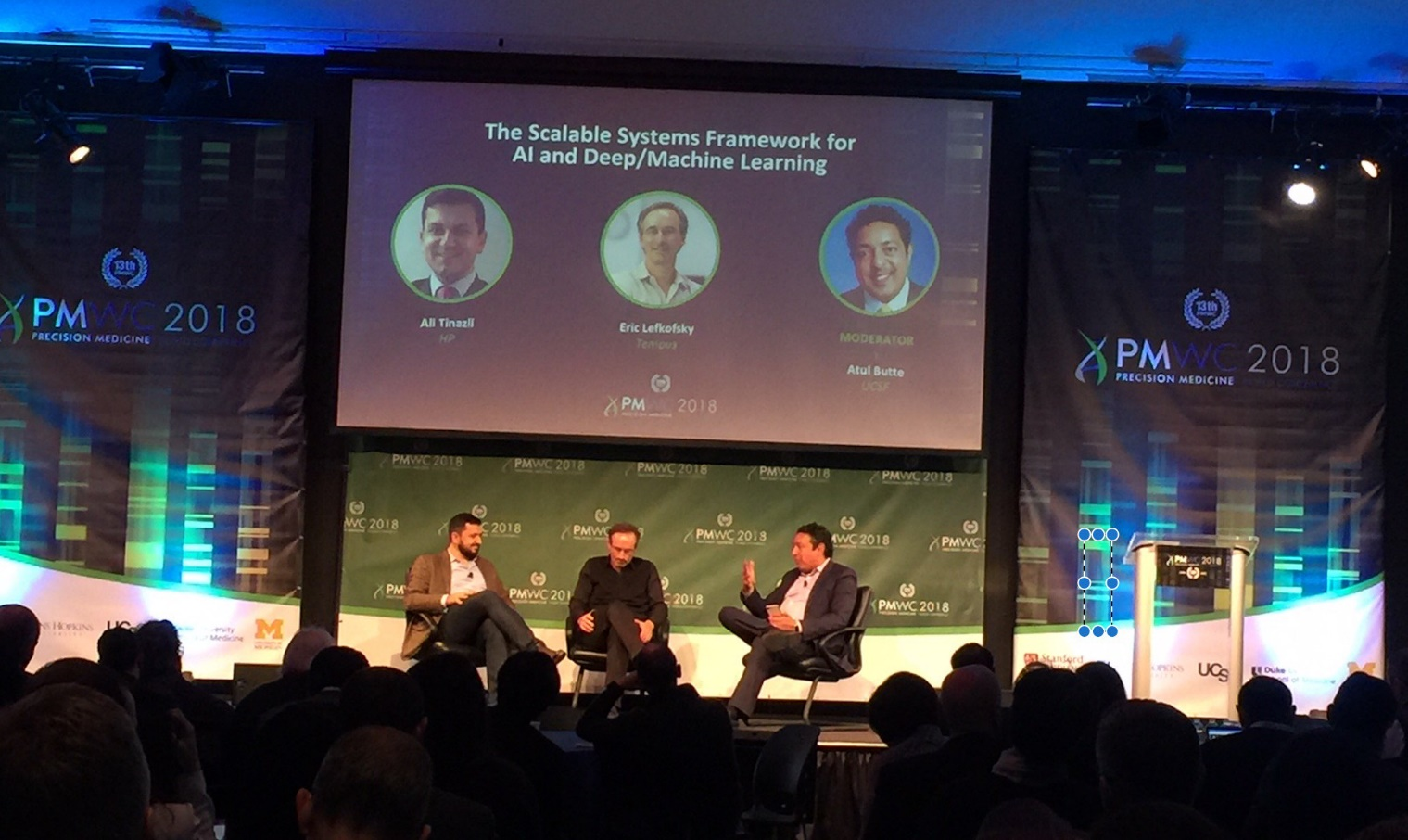 Tempus CEO in a tech conference