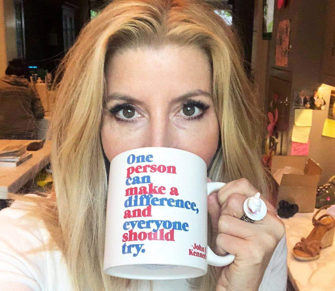Sara Blakely in her house