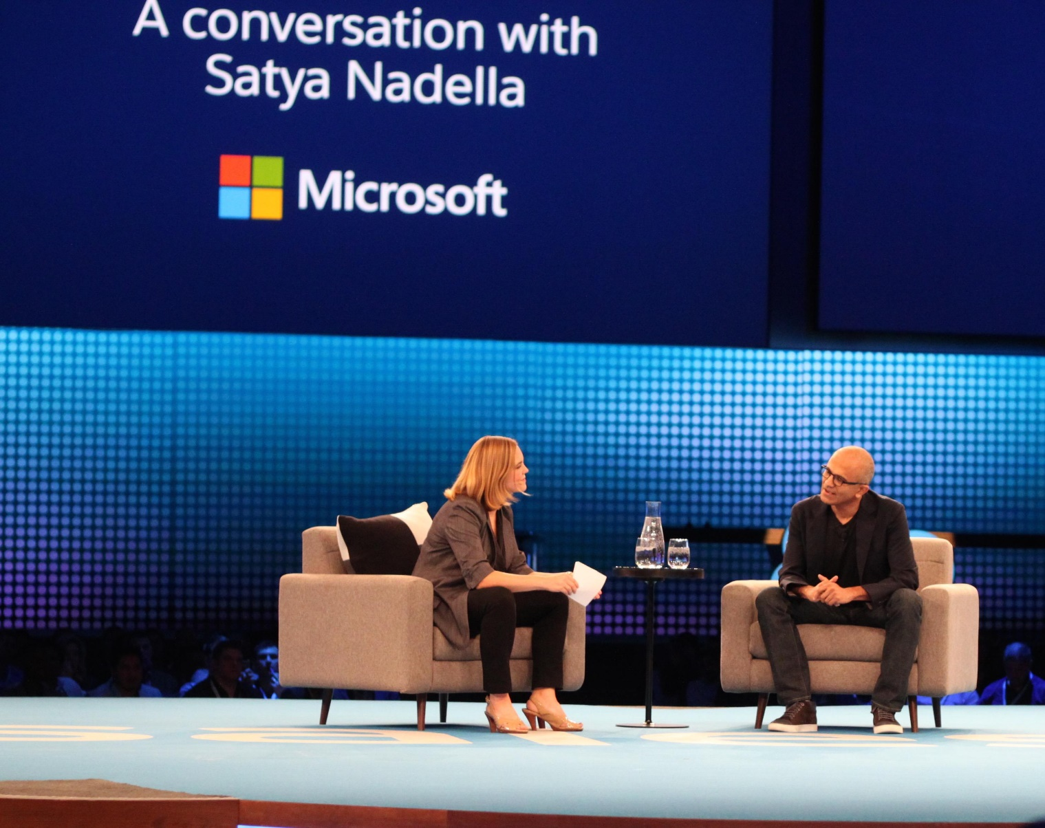 Satya Nadella in an interview at retail conference