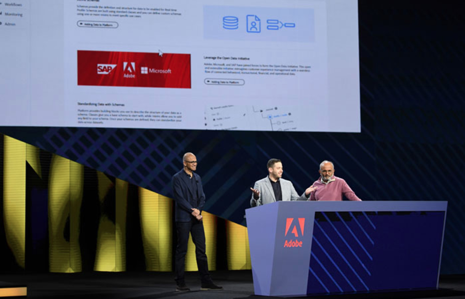 Microsoft CEO collaborate with SAP and Adobe CEOs