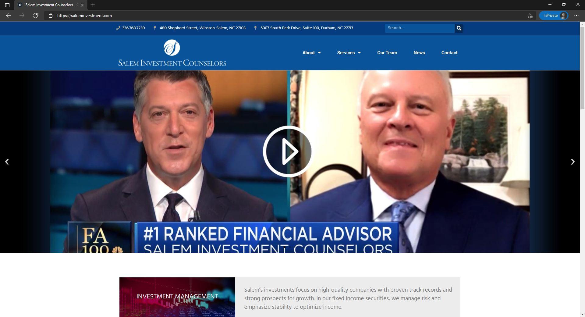Salem Investment Counselors website