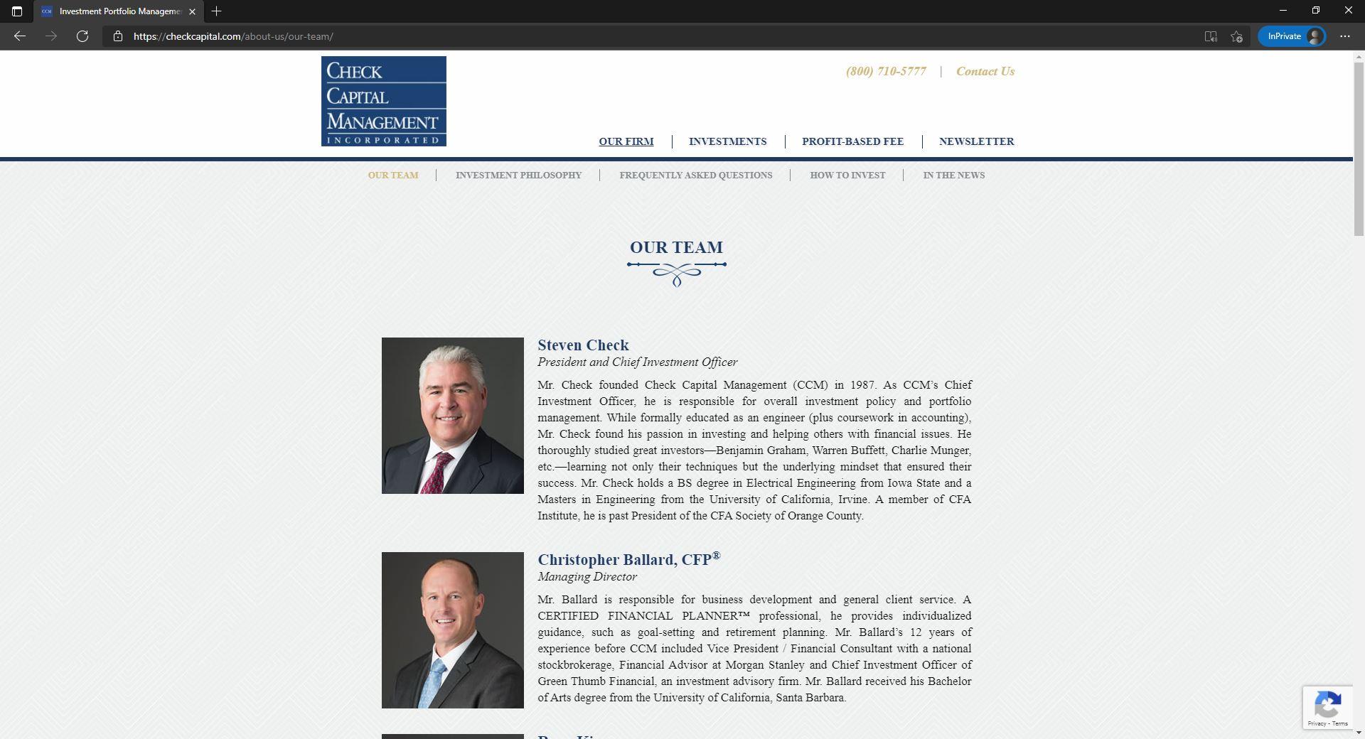 Check Capital Management website