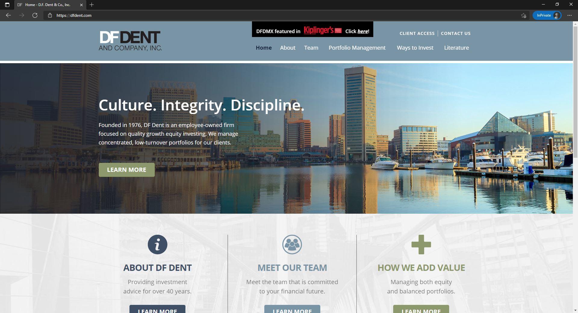 D.F. Dent & Co website
