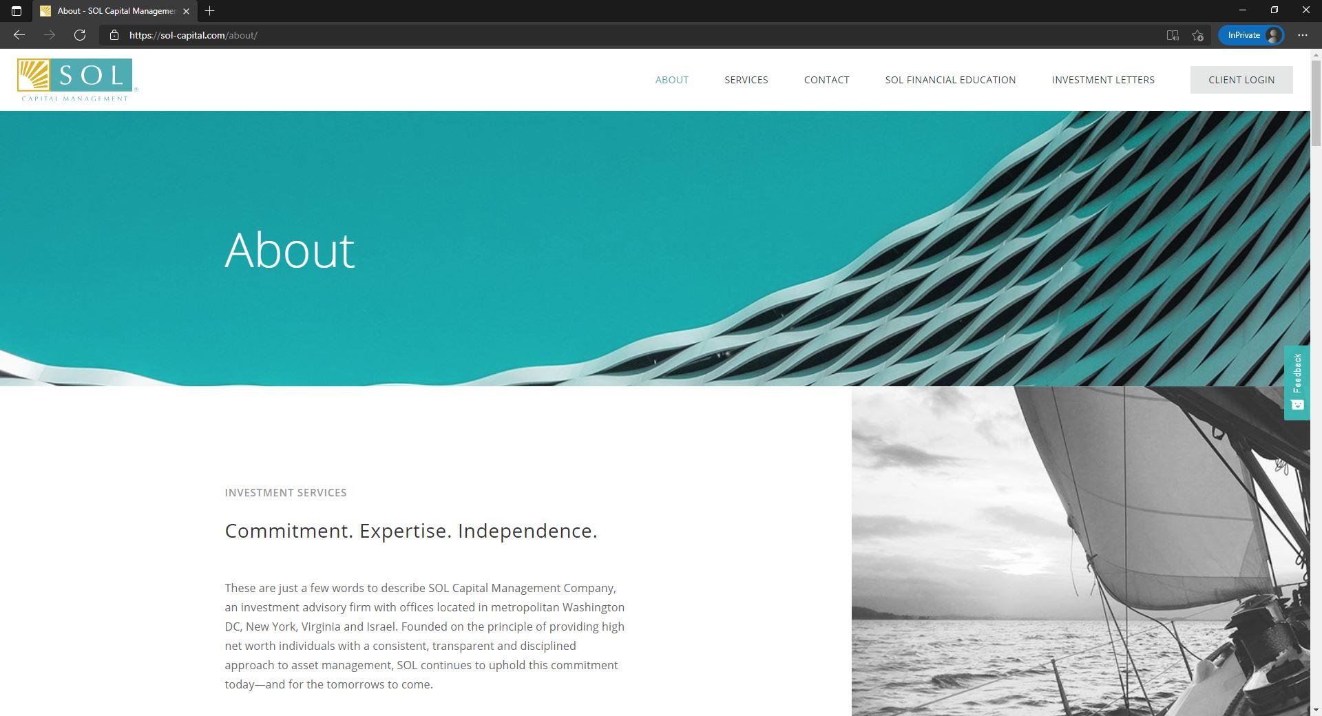Sol Capital Management website