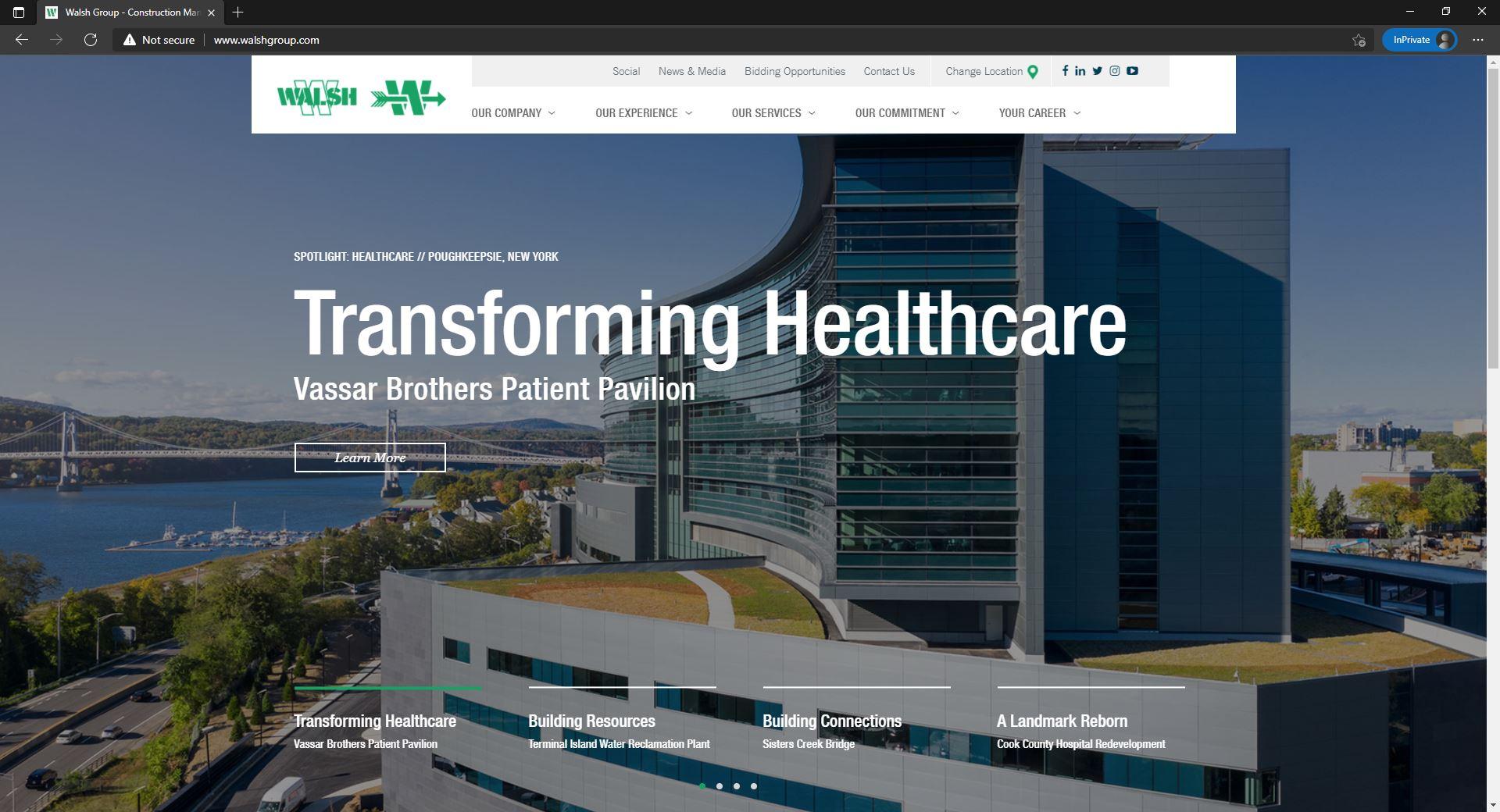 Walsh group website homepage