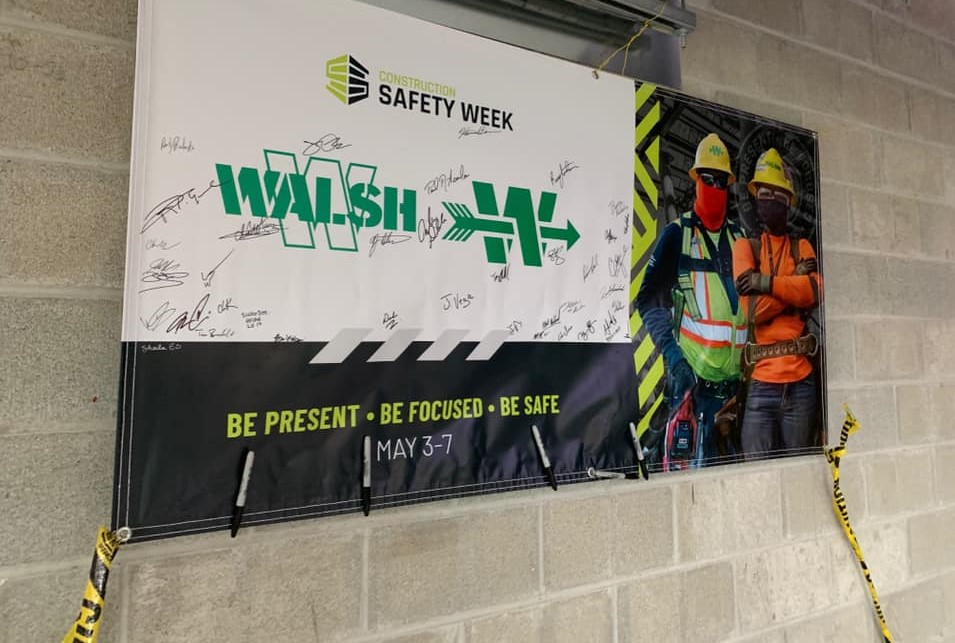 A safety poster in at the job site