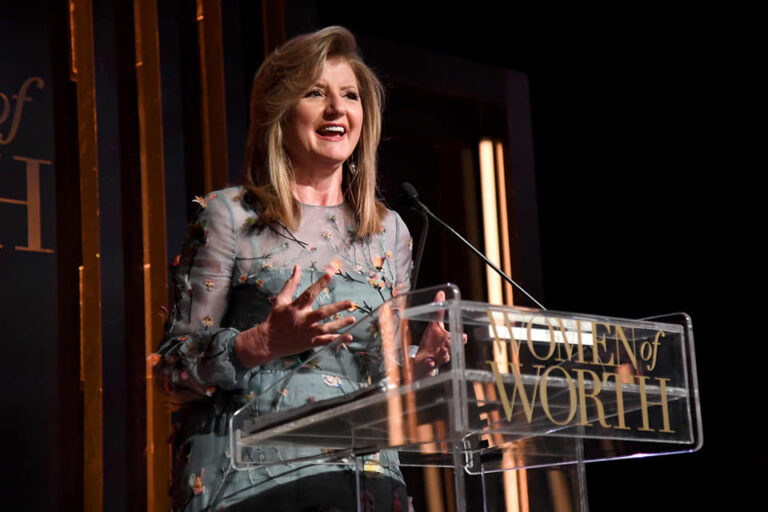Arianna Huffington speak at the Women of Worth