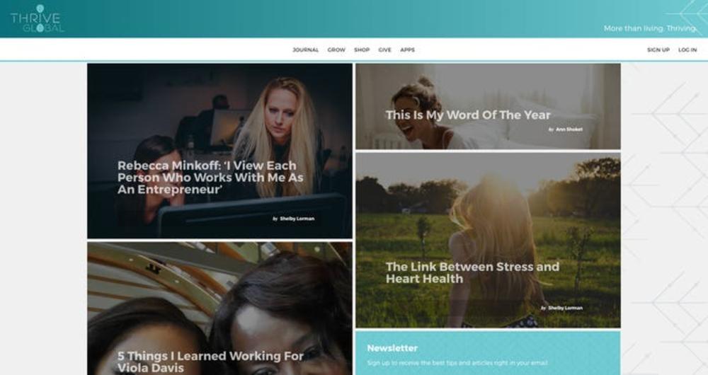 Thrive Global user interface