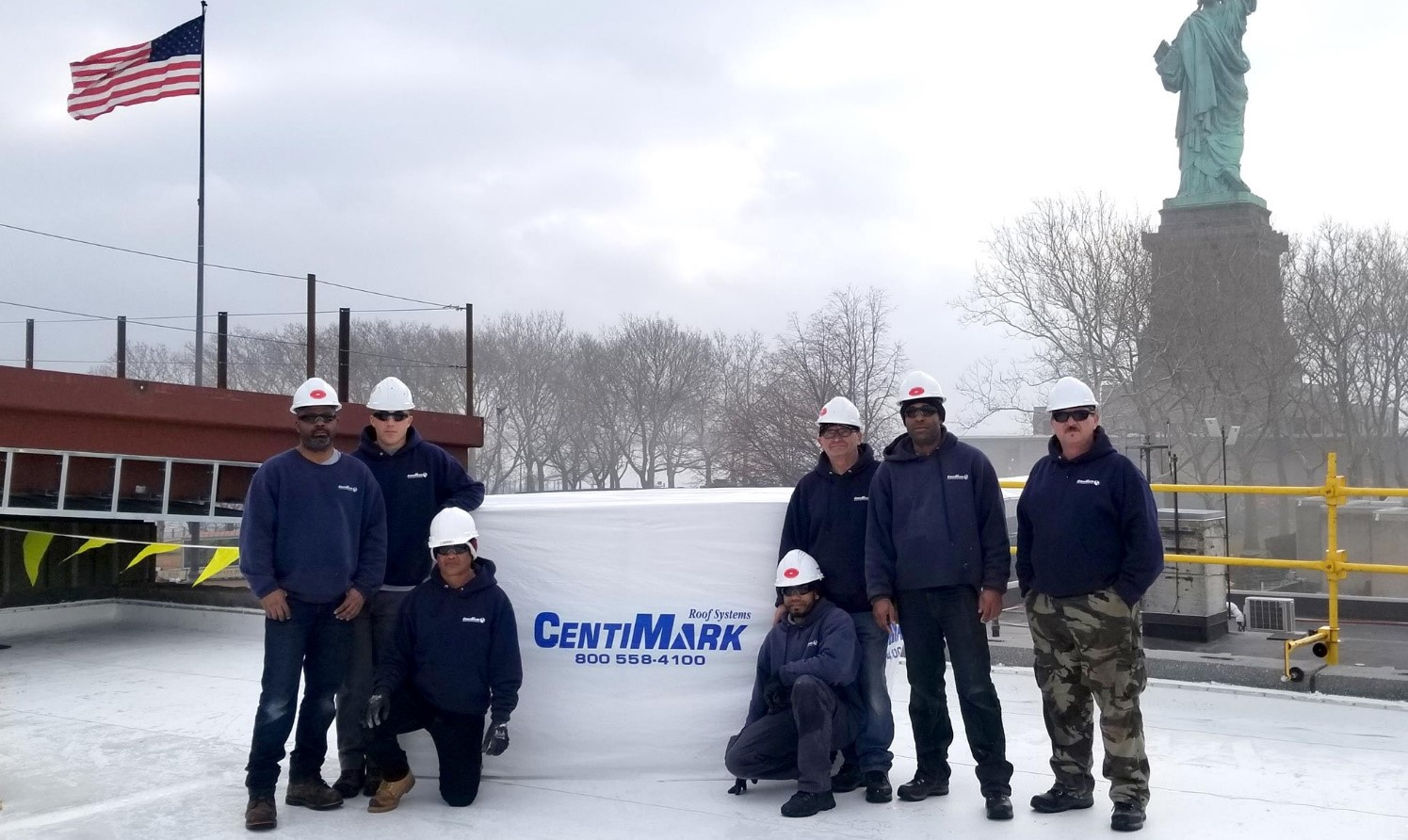 CentiMark team at the job site in New York