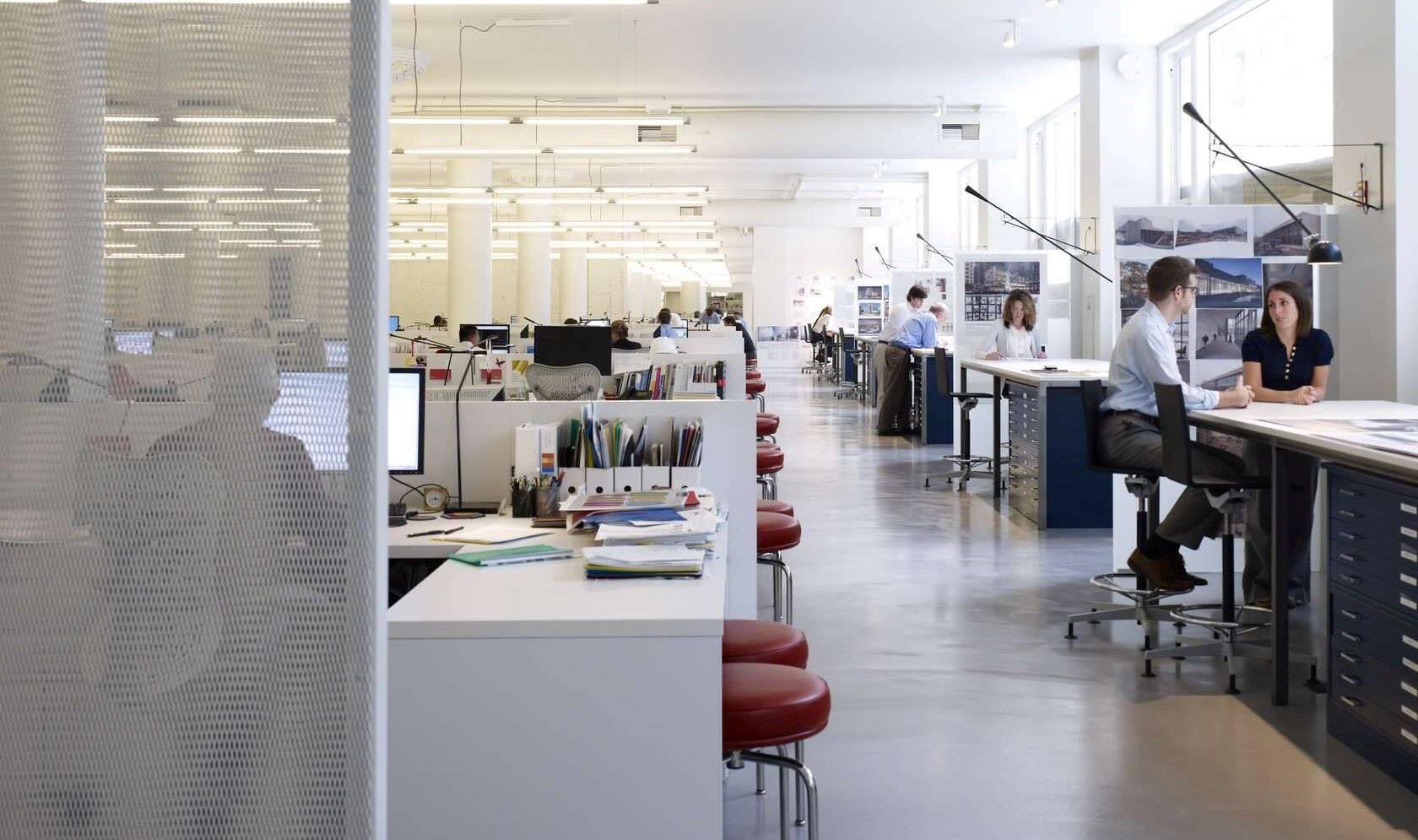 Gensler architects and designers work together in building design