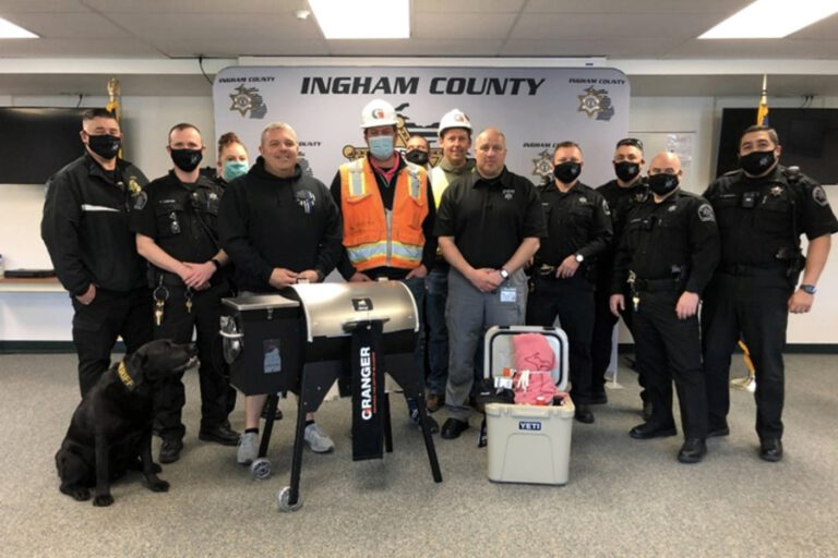 Granger Construction staff at the Sheriff office