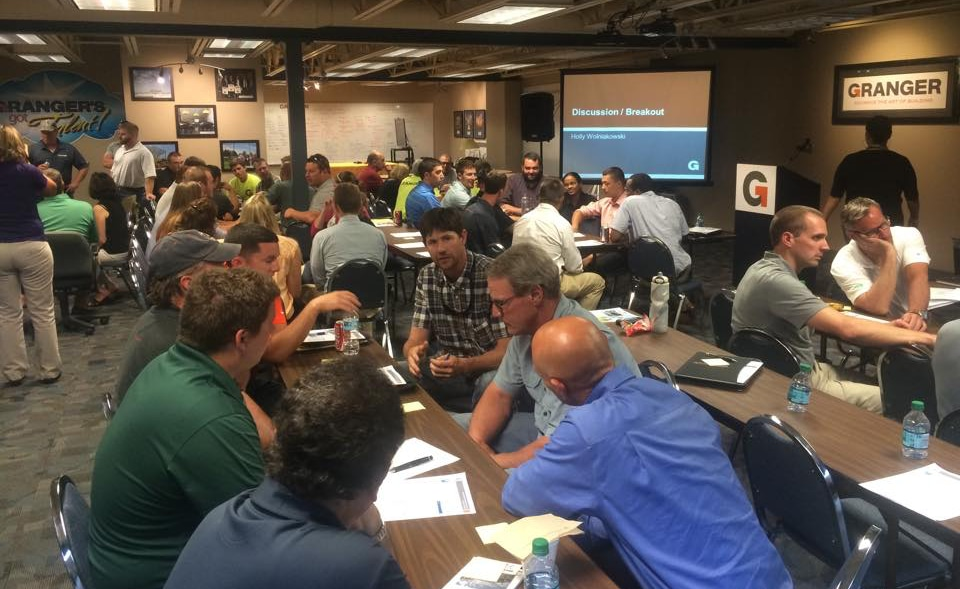 Granger Construction collaborate in an internal training