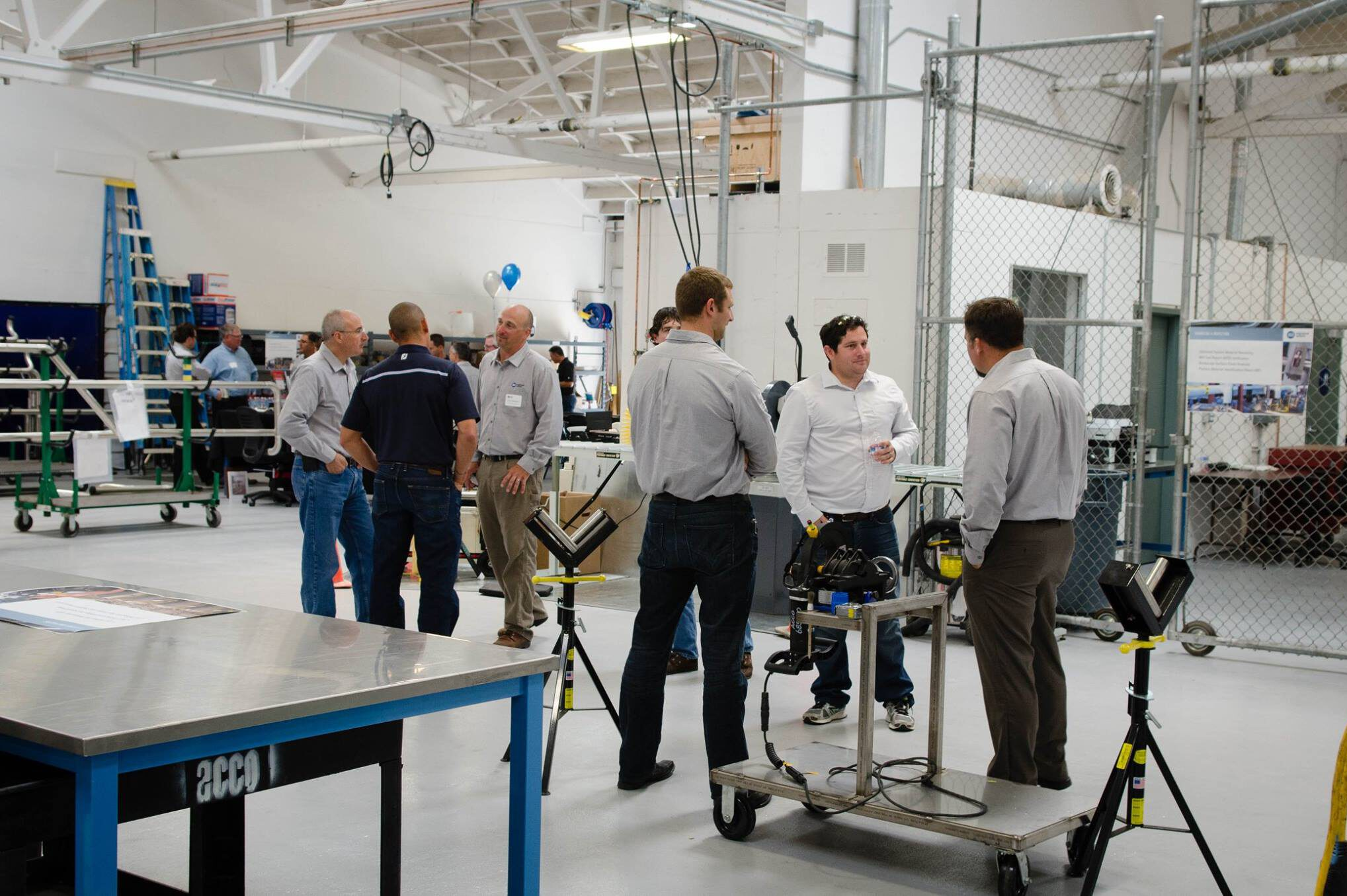 ACCO Engineering team at a manufacture plant