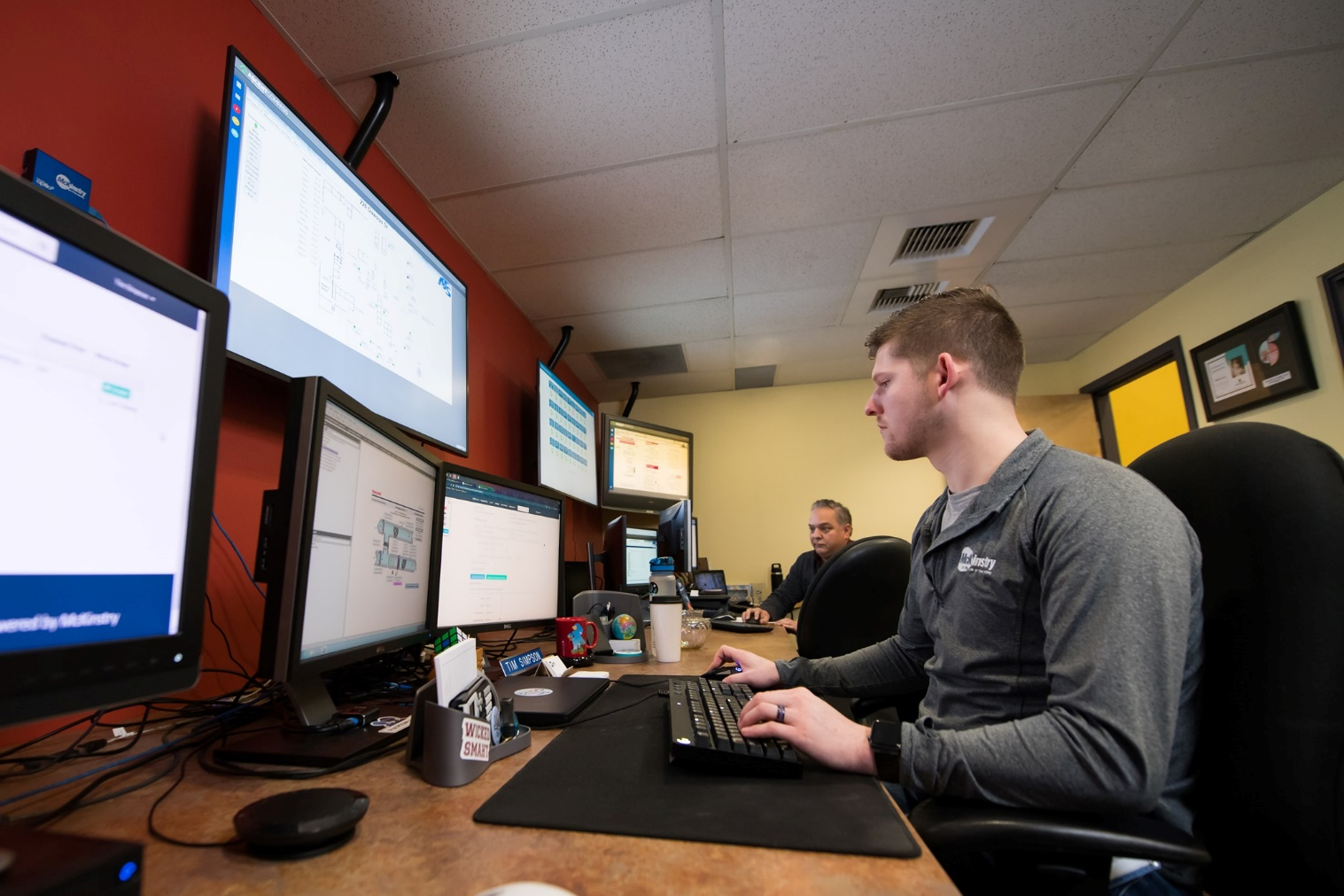 Mckinstry engineers checking design electrical plan
