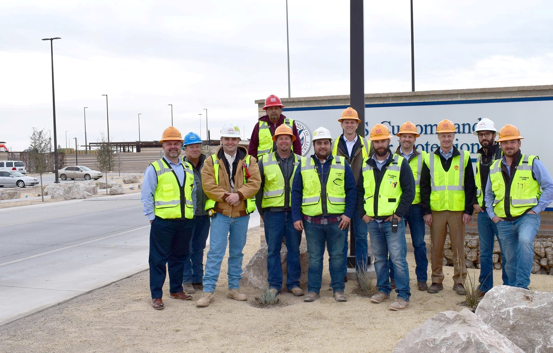 Hensel Phelps construction team at USCIS building