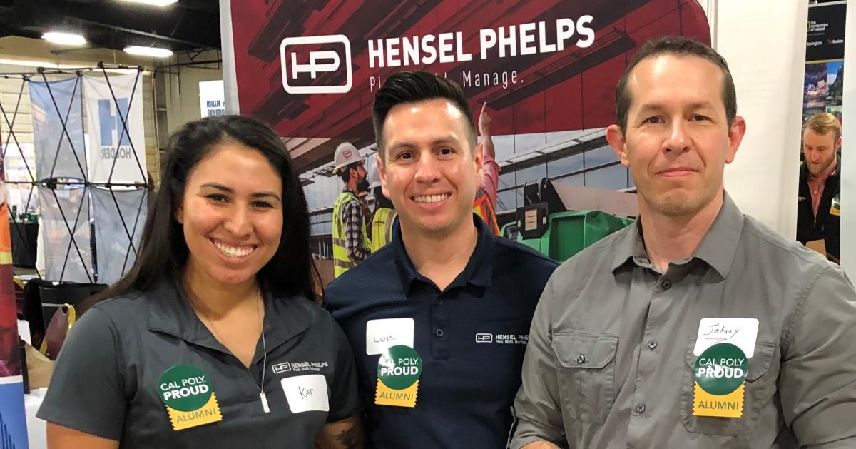 Hensel Phelps staff at tradeshow