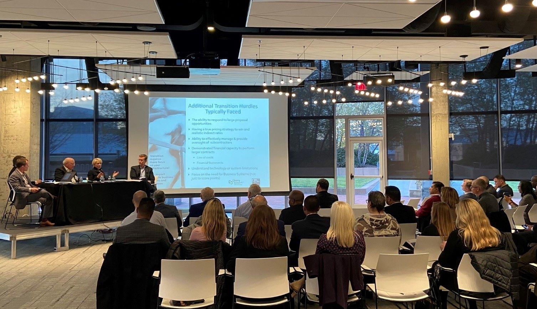Cherry Bekaert team discuss in a seminar