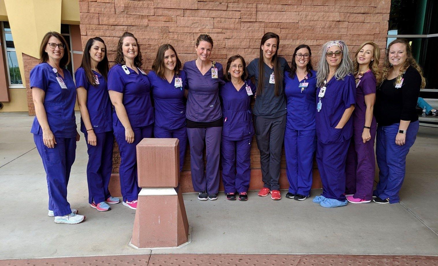 Banner Health nurses during break