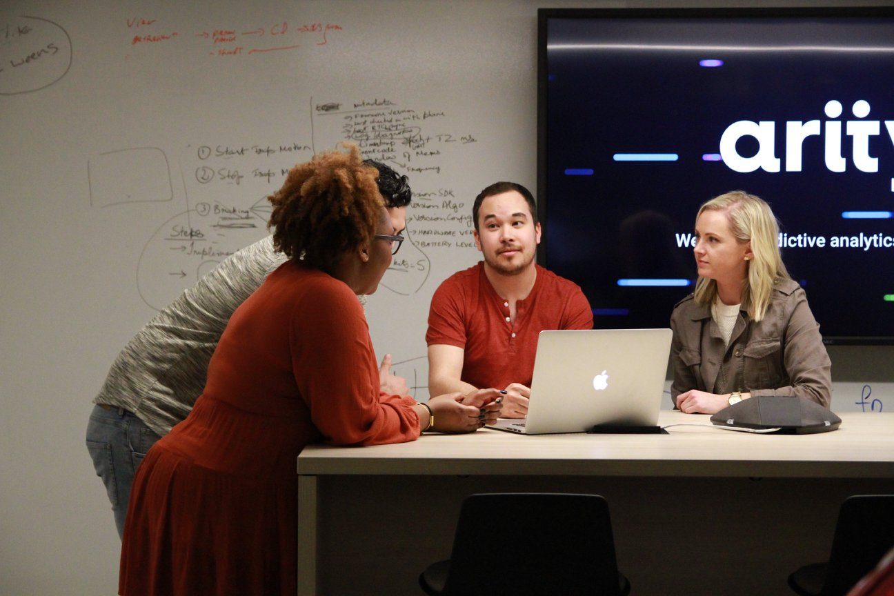 Arity team brainstorm during ideation