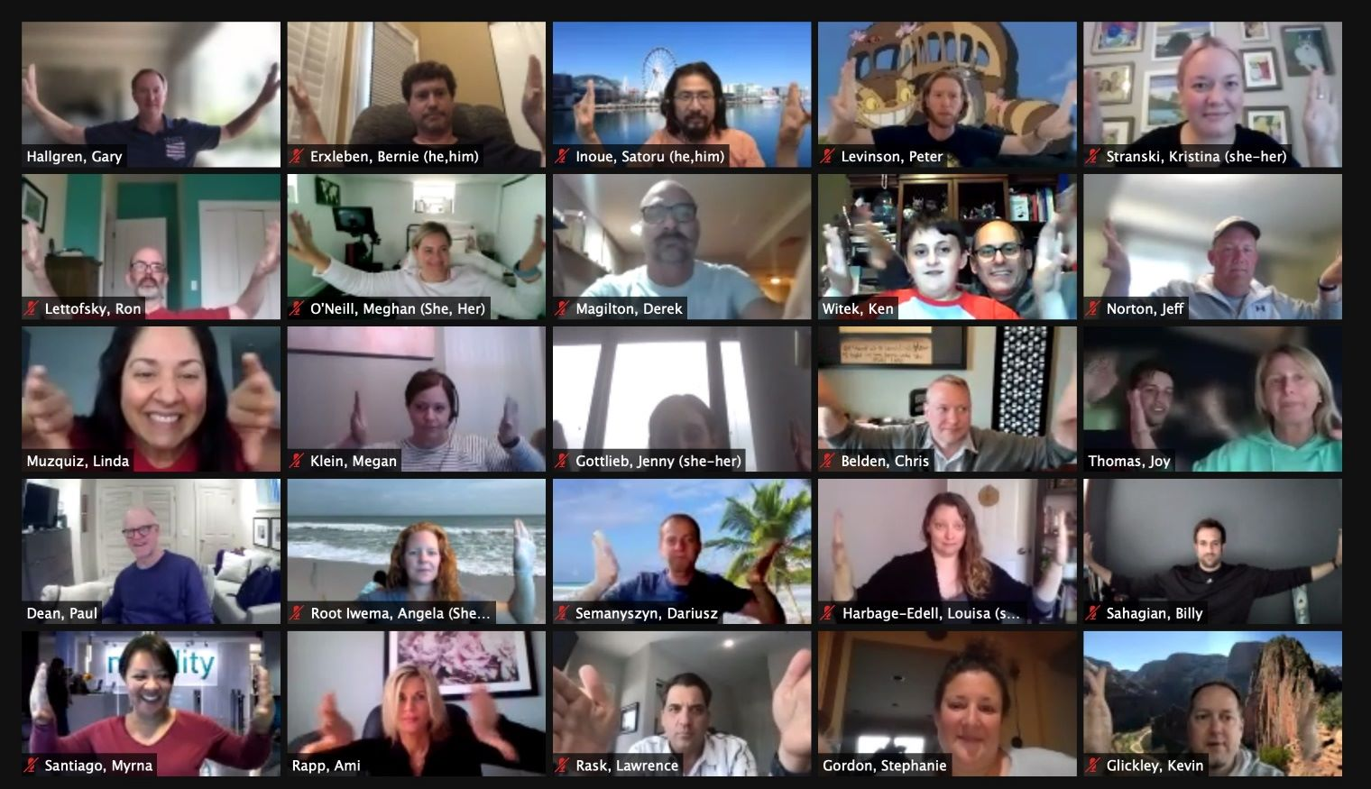 Arity staff on video conference