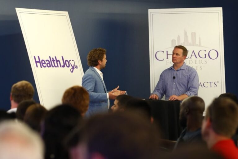 HealthJoy CEO answered questions from the audience at Chicago founders