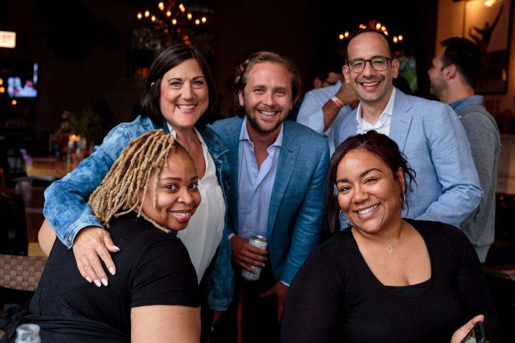 HealthJoy staff celebrate milestone at a local restaurant