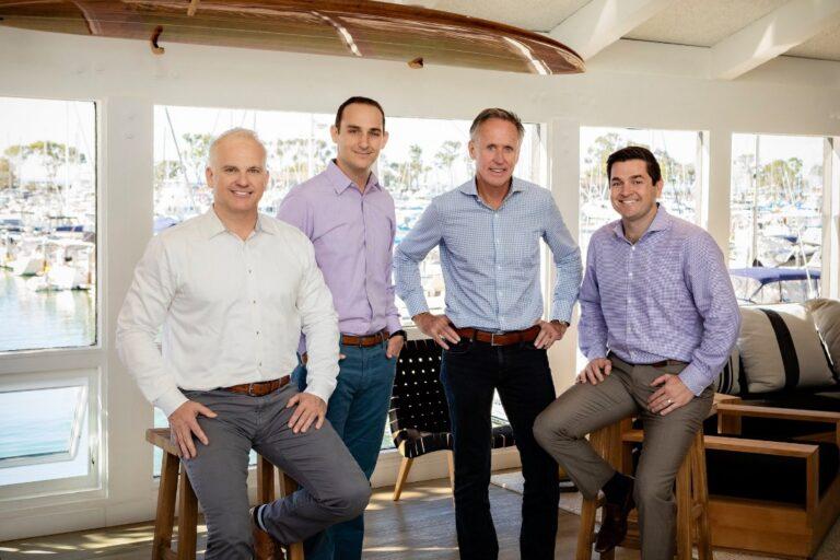 R.D Olson leadership team at a beach hotel
