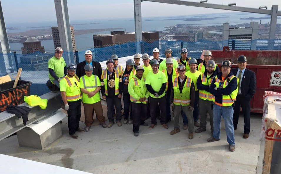 JC Cannistraro staff on rooftop of a building in Boston