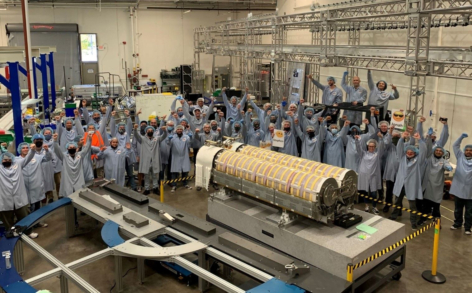 Redwire Space engineers and scientists work on solar ray panels
